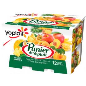 PANIER FRUITS JAUNES 12X125G