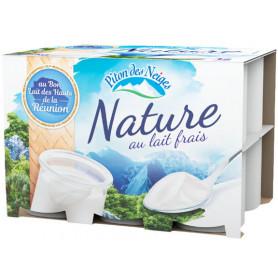 YAOURTS NATURES - PITON DES NEIGES- 12X125GR