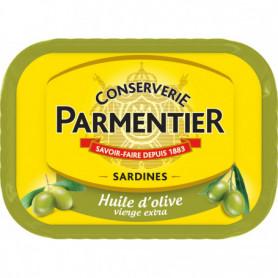 Sardines huile olive PARMENTIER 135G