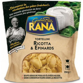 RANA TORTELLINI RICOTTA EPINARDS 250 GRS