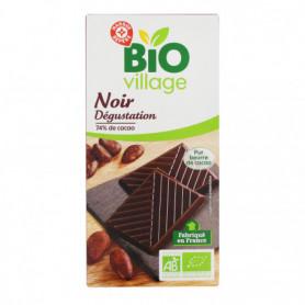 Chocolat noir Bio Village Dégustation 74% cacao 100g