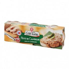 Pâté de campagne Côté Table Pur porc - 3x78g