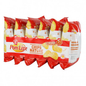 CHIPS NATURE POMLISSE   6X30G