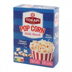 POP CORN MICRO ONDABLE GOUT SUCRE (3x90grs) TOKAPI 270GRS