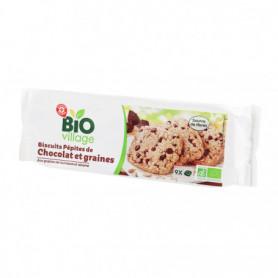 Biscuit graine Bio Village Pépites de chocolat - 140g