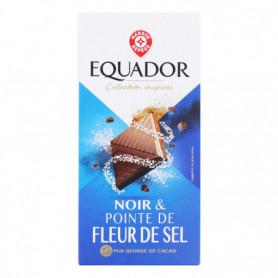 TABLETTE DE CHOCOLAT NOIR FLEUR DE SEL EQUADOR 100GRS