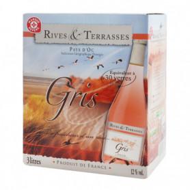 Vin rosé Rives  Terrasses Pays d'Oc IGP - 3L