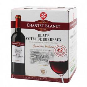 Vin rouge Chantet Blanet Blaye Côtes de Bordeaux AOC 3L