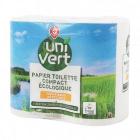 Papier toilette Uni Vert Compact écologique - x4