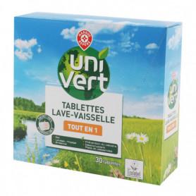 Tablettes vaisselle Uni vert Tout en 1 x30 - 480g