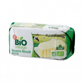 Beurre demi sel 80% MG BIO VILLAGE 250g