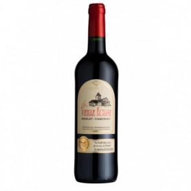 Vin rouge Merlot Cabernet Vieille église AOP 75cl