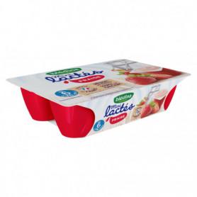 Dessert  Mini lactés BLEDINA 6x55g Fraise - Dès 6 mois