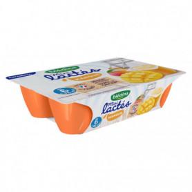 Dessert Mini lactés BLEDINA 6x55g Mangue  -  Dès 6 mois