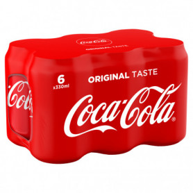COCA-COLA  CANNETTES - 6x33cl