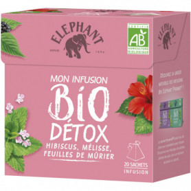 Infusion Detox 20 Sachets Elephant bio