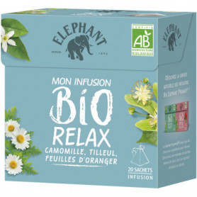 Elephant Tisane Bio Relax Camomille Tilleul 20 Sachets