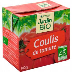 JARDIN BIO / COULIS DE TOMATE BIO* / BRIQUE TETRA DE 500gr