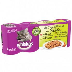 WHISKAS Boîtes en gelée 4 variétés pour chat 4x390g