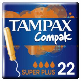 Tampons Applicateur Compak Super Plus x22 Tampax