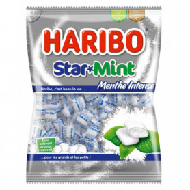 CONFISERIE DRAGEIFIEE STAR MINT SACHET HARIBO 200GRS