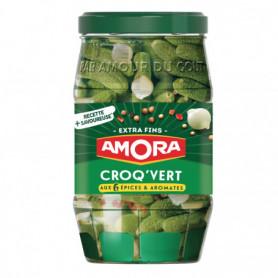 Cornichons Extra-Fins Bocal Croq'Vert amora 370g