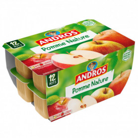 Compote Pomme Nature (12X100G)  Andros 1.2KGRS