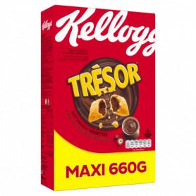 Céréales Chocolat Noisettes Trésor Kellogg's 660grs