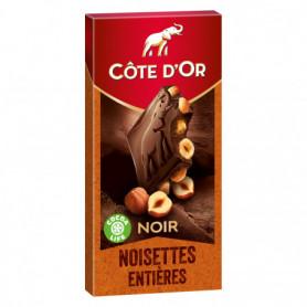 Tablette de Chocolat Noir Noisettes Entières Côte d'Or 180grs