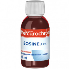 Eosine 2% Mercurochrome en bouteille - 100ml