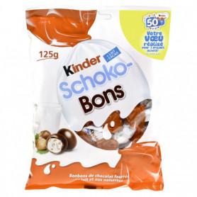 BONBON CHOCOLATE SCHOKO-BONS KINDER SACHET DE 125GRS