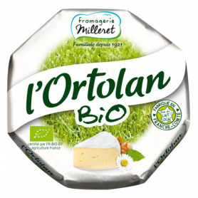 Fromage l'Ortolan Bio Fromagerie Milleret - 250g