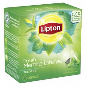 Thé Menthe Fresh Vert Intense Lipton X20 Sachets