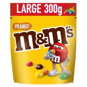 Confiserie chocolatée cacahuètes enrobées et dragéifiée pochon MM's 300grs