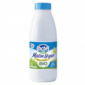Lait Bio écrémé Matin Léger Sans lactose - Lactel - 1L