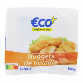 NUGGETS VOLAILLE ECO+ 500G