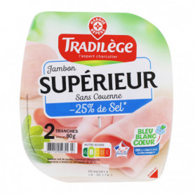 JAMBON CUIT SUP 25%SEL TRADIL 80G