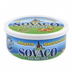 BEURRE SOVACO 1/2 SEL  250G