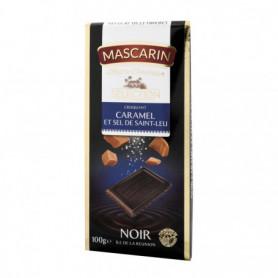 TABLETTE DE CHOCOLAT NOIR CARAMEL/SEL DE SAINT LEU MASCARIN 100GRS