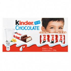 BARRE CHOCOLATEE X8 KINDER 100GRS