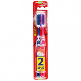 Brosse à dents double action x2 COLGATE
