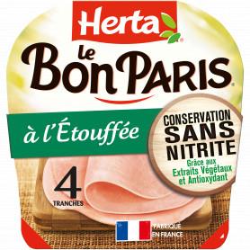 HERTA LE BON PARIS Jambon conservation sans nitrite x4 -140g