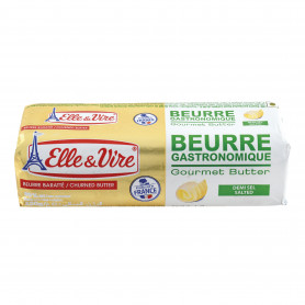 Beurre Gastronomique demi sel - Elle & Vire - 250g