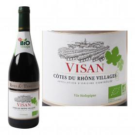 AOC Côtes du Rhône Vin rouge Bio - Visan 75cl