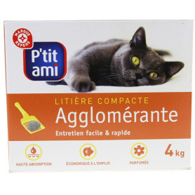 Litière chats P'tit Ami Compacte - 4kg