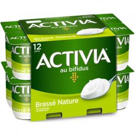 Yaourts Bifidus Activia Brassés natures 12x110g