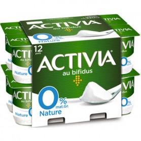 Yaourts Bifidus Activia Danone Nature, 0% mg 12x110g
