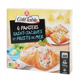 FEUILLETE FRUITS DE MER ET ST JACQUES X4 COTE TABLE 400G