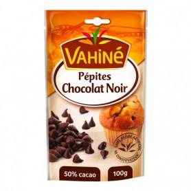 Pépites chocolat noir pour desserts gâteaux Vahiné 100grs