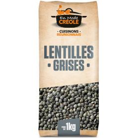 LENTILLES GRISES MODE CREOLE 1KG